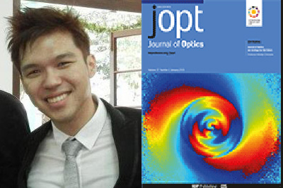 賀! 趙柏凱同學之論文榮獲 Journal of Optics' 「Paper of the Week」