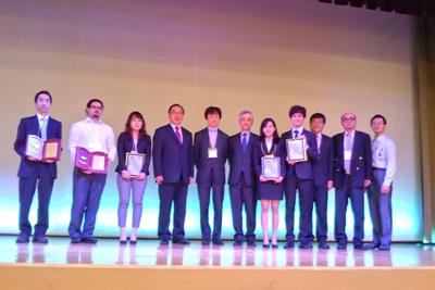 Mr. Sean Yang and H. W. Yang receive IEEE CPMT Japan Chapter Young Award from ICEP 2017