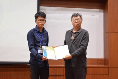"Mr. Chin-I Wang wins ""Student Paper Award"" of 24th SNDT 2017"